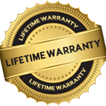 Lifetime warranty certification logo